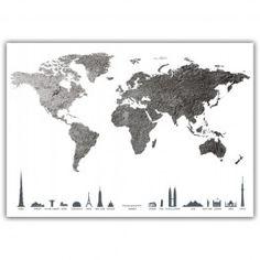 Plakat - Verdenskart - Betong