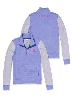 Half-Zip Pullover - PINK - Victoria's Secret | Tops