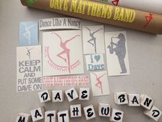 Hey, I found this really awesome Etsy listing at https://www.etsy.com/listing/191891074/dmb-dave-matthews-band-decal-set-of-9