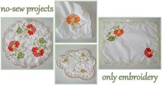 3 Designs & 2 Panels for Doily Digitized by Santi * Cross hairs have been added for easy alignment * Instructions included in the color chart Doilies, Floral Tie, Sewing Projects, Africa, Embroidery, Detail, Color, Design, Needlepoint