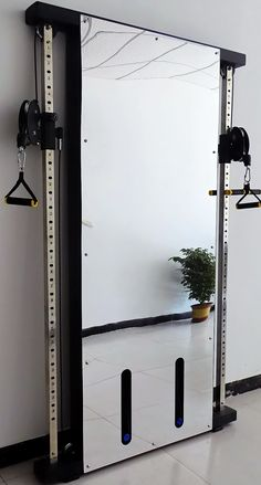 French Fitness Wall Mounted Mirror Functional Trainer | Fitness Superstore Strength Training Equipment, No Equipment Workout, New Matrix, Commercial Gym Equipment, Home Warranty, Functional Training, Wall Mounted Mirror, Pulley, Room Set