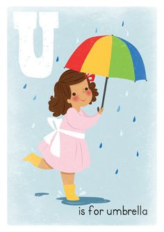 umbrellas by quenalbertini - Colorful umbrella illustration-via etsy...