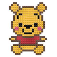 Tiny Cross Stitch, Cross Stitch Books, Cross Stitch Kits, Cross Stitch Patterns, Pixel Art Winnie, Hama Beads Animals, Tigger Winnie The Pooh, Pixel Art Grid, Crochet Skull