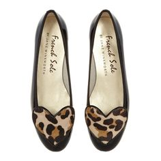 Patent Leather ballet pumps, Love Heart Black
