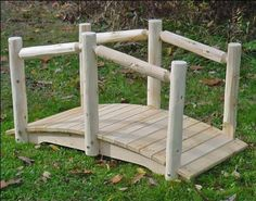 "3' White Cedar Unstained Single Rail Bridge by Fifthroom. $229.00. Free Shipping. Protected by 5 year limited warranty. 3'L x 15""W; max span of 20""; capacity: 300 lbs. Hardware: stainless steel screws and galvanized washers, nuts, and bolts. Made in the USA. This Unstained White Cedar Single Rail Bridge is a natural beauty. Hand-crafted with care from wild, white cedar, it will make a wonderful walkway for your garden path or stream. This spectacular bridge, available in four le..."