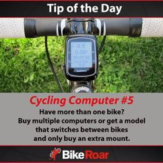 Tip of the Day: Cycling Computer #5 Have more than one bike? Buy multiple computers or get a model that switches between bikes and only buy and extra mount.  #BikeRoarTOD #cycling #cyclocomputer #1for2