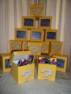 4x4 GIFT BOXES USED FOR PARTY FAVORS??