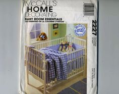 Mccalls 2227 Baby Room Essentials Home Decorating Center Uncut Craft Sewing…