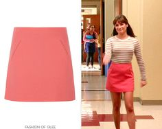 Marni Wool A-Line Skirt - $198.00 (half price!) Worn with: Vince sweater, Prada pumps We've got you covered if you're after a cute coral skirt like Rachel's: // Rachel Berry Style, Glee Fashion, Coral Skirt, Preppy Look, Lea Michele, Half Price, Slingback Pump, Outfit Goals, Marni