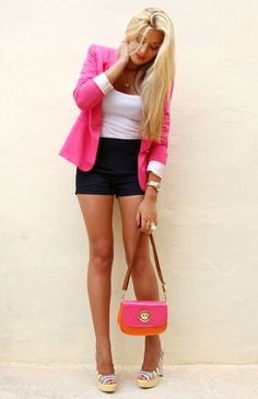 I want a hot pink blazer!