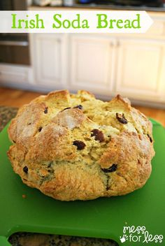 Irish Soda Bread Recipe -this recipe is so easy to make you can do it with kids. Yummy traditional and perfect for St. Patrick's day!