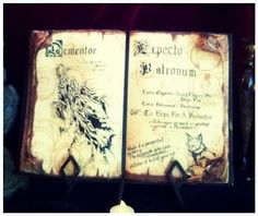 Any Harry Potter fan will be blown away by this easy tutorial for a completely original spell book to keep the Dementors away. Even if you just use the art work in frames, it's a cool gift for an HP fan.
