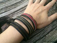 #ibeemedesign #zipper #bracelets #black #metal