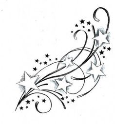 behind the ear star tattoo designs