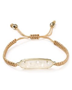 """Kendra Scott delivers a new piece of arm candy for your stack-a braided bohemian bracelet that lends a hint of glint the to your wrist. 