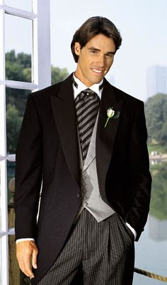 tux with tails and long gray tie | Home Wedding Tuxedo Styles Tuxedo for Black Tie