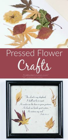 Pressed Flower Crafts - Using dried flowers and dried leaves for crafts with your kids of all ages