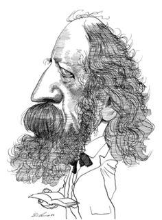 Alfred Tennyson  by David Levine