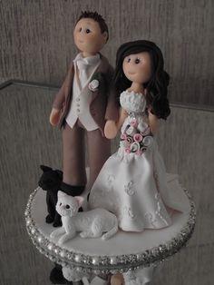 personalised bride and groom wedding cake topper all handmade, customised via etsy