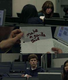 The Social Network gorilla face