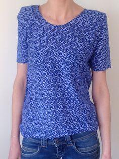 Tuto couture blouse manches courtes femme débutante / Blog mode femme, mode grossesse, maternité, mode enfant, décoration, cuisine à Nantes 9 MOI(S) d'envies