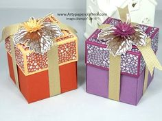 Easy Explosion Gift Box using Stampin' Up! products - YouTube