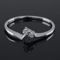 For Ladies Round Cut White VVS Diamond Promise Style Ring #PromiseRing