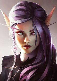 Young Blood Elf by Nixri on DeviantArt Fantasy Girl, Fantasy Warrior, Dark Fantasy Art, Dnd Characters, Fantasy Characters, Character Portraits, Character Art, Fantasy Inspiration, Character Inspiration