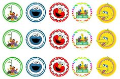 Freebies: FREE Sesame Street bottlecap images