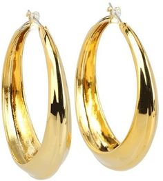 ShopStyle: Vince Camuto - Tapered Round Large Hoop Earrings