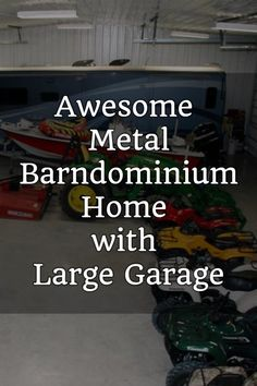 Awesome Metal Barndominium Home with Large Garage Metal Building Homes, Metal Homes, Building A House, Garage Apartment Plans, Garage House Plans, Home Design Diy, House Design, Loft Design, Cladding Design