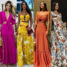 Pretty casual maxi outfits for summer. Fashion Mode, Boho Fashion, Fashion Dresses, Fashion Looks, Womens Fashion, 2000s Fashion, Casual Dresses, Summer Dresses, Pretty Dresses