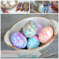 melted crayons easter decoration