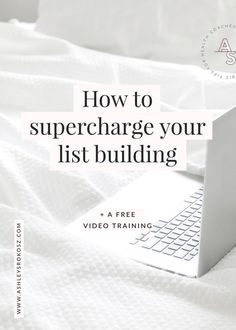 How to supercharge your list building (+ free video training) — Ashley Srokosz Branding Your Business, Business Tips, Online Business, Email Marketing Strategy, Content Marketing, Digital Marketing, Inbound Marketing, Media Marketing, Like Facebook