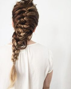 Long braid for long hair. Hair inspiration.