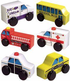 Wooden Towns Car Set