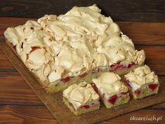 Rabarbarowa chmurka Toffee Bars, Nutella, Oreo, Potato Salad, Cake Recipes, Cheese, Vegetables, Ethnic Recipes, Food