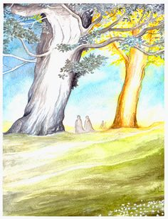 The Two Trees of Valinor by ~peet on deviantART