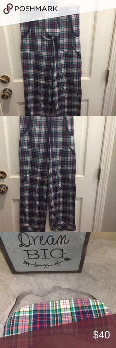 Victoria's Secret Plaid Pajama Pants WITH POCKETS Super soft pj pants with pockets and strings to tighten if needed. Includes sleep mask for free. Only worn once Victoria's Secret Intimates & Sleepwear Pajamas