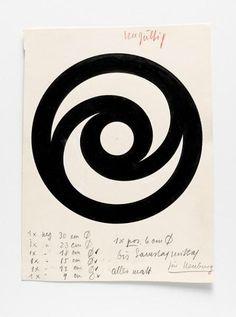 Hans Neuburg, graphic design, 1940-60. Switzerland. 1/ Oertli tools, 1946. 2/ Helvetica Specimen Neue Haas Grotesk, 1960. 3/ HN, 1950. 4/ Hyspa, 1960. 5/ Philips ad, 1952. 6/ Sulzer ad, 7/ Oertli,...