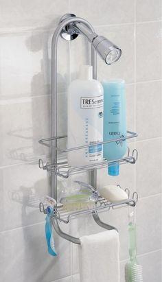 INTERDESIGN CLASSICO STRONG BATHROOM SHOWER CADDY ORGANISER STORAGE  SILVER-TONE