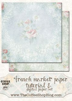 """The CoffeeShop Blog: CoffeeShop """"French Market"""" Papers: Tutorial and Free Paper Set!"""