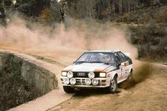 1982 WRC Portuguese Rally, Estoril : Michele Mouton, Audi Quattro, Audi Sport, Winner (with Pons). (ph: forum-auto.com)
