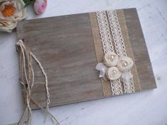 Wooden guestbook or photo album  Rustic Wedding by CraftStories