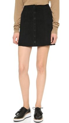 PAIGE Cassia Suede Skirt