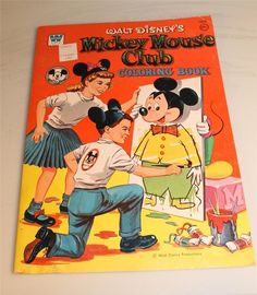 Mickey Mouse Club Coloring Book, 1957