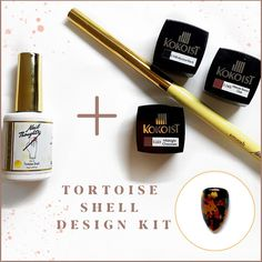 WE FINALLY HAVE THE PERFECT TORTOISE SHELL COLOR. But why not make the tortoise design even easier with this whole tortoise design KIT? This color kit comes with everything you need for a perfectly glassy tortoise nail art design. TAP THROUGH to finally start mastering your tortoise shell manicures with this Nail Thoughts Tortoise Shell gel kit! #nailthoughts #tortoiseshell #tortoiseshellnails Nail Design Kit, Fall Nail Art Designs, Gel Nail Colors, Gel Color, Local Nail Salons, Fall Manicure, Nail Art Supplies, Color Kit, Nail Supply