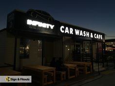 If your business operates in a busy commercial space or area, an illuminated signage can increase your chances of standing apart and getting noticed by your customers from a distance. This is where Sign and Fitouts can come to your rescue. Illuminated Signs, 3d Letters, Shop Logo, Car Wash, Carne, Signage, Distance, Commercial, Lights