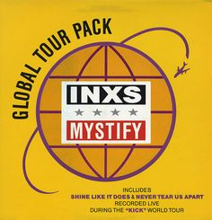 "For Sale -Inxs Mystify - Global Tour Pack UK  12"" vinyl single (12 inch record / Maxi-single)- See this and 250,000 other rare and vintage records & CDs at http://eil.com/"