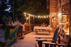"""Entertaining on the deck of """"The Forest Feast"""" author and blogger Erin Gleeson's cabin in the woods. Photo: Erin Gleeson"""